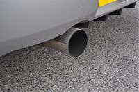 exhaust tip before
