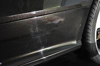 rear lower sill with scratches and defects