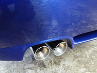 BMW Z4 exhaust - after detailing