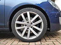 Golf GTD - wheel before detailing